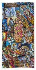 Hand Towel featuring the photograph Hindu Deity Posters by Tim Gainey