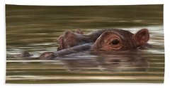Hippo Painting Bath Towel