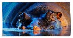 Hippopotamus Hand Towels