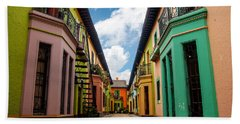 Historic Colorful Buildings Hand Towel
