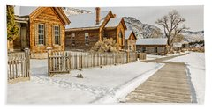 Historic Ghost Town Hand Towel by Sue Smith