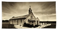 Historic Old Adobe Spanish Style Catholic Church San Ysidro New Mexico Bath Towel by Jerry Cowart
