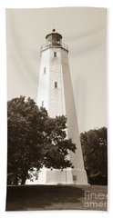 Historic Sandy Hook Lighthouse Bath Towel