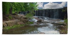Historic Yates Mill Dam - Raleigh N C Bath Towel