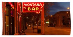 Historical Montana Bar Bath Towel