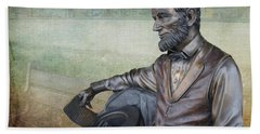 History - Abraham Lincoln Contemplates -  Luther Fine Art Bath Towel