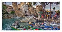 History At Lake Garda Hand Towel