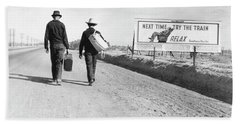 Hitchhikers, 1937 Hand Towel