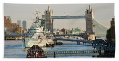 Hms Belfast London Hand Towel
