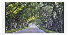 Hobe Sound Fl-bridge Street Banyans Hand Towel by Betty Denise