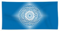 Hoberman Sphere Blue Hand Towel