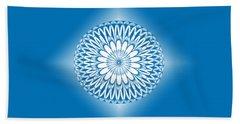 Hoberman Sphere Blue Bath Towel by Methune Hively