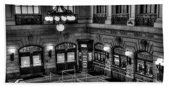 Hoboken Terminal Waiting Room Bath Towel by Anthony Sacco