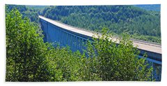 Hoffstadt Creek Bridge To Mount St. Helens Bath Towel