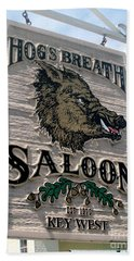 Bath Towel featuring the photograph Hog's Breath Saloon by Fiona Kennard