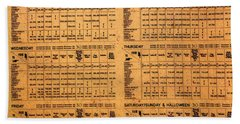 Hogsmeade Station Timetable Bath Towel by David Lee Thompson