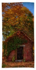 Hand Towel featuring the photograph Holding Up The  Fall Colors by Jeff Folger