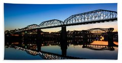 Holiday Lights Chattanooga Bath Towel