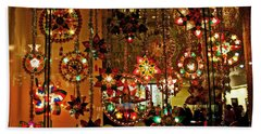 Bath Towel featuring the photograph Holiday Lights by Suzanne Stout