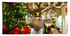 Holiday Reindeer Hand Towel