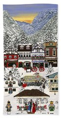 Holiday Village Hand Towel