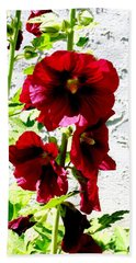 Hollyhock Is Hollyhock Hand Towel
