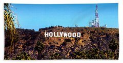 Hollywood Sign Hand Towel by Az Jackson