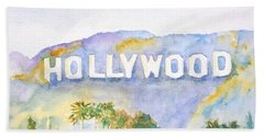 Hollywood Sign California Bath Towel
