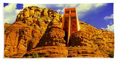 Holy Cross Chapel Coconino National Forest Bath Towel