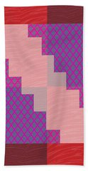 Bath Towel featuring the photograph Holy Purple Diamond Pattern And Silken Light Crystal Across by Navin Joshi