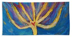 Hand Towel featuring the painting Holy Spirit Which Dwells In You by Cassie Sears