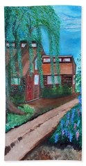 Hand Towel featuring the painting Home by Cassie Sears