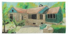 Bath Towel featuring the painting Home Sweet Home by Jeanne Fischer