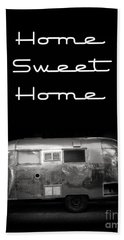 Home Sweet Home Vintage Airstream Hand Towel by Edward Fielding