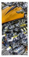 Honda Valkyrie 3 Hand Towel by Steve Purnell