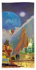 Hand Towel featuring the painting Honeymoon In Oz by Art West