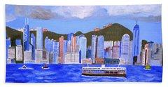 Bath Towel featuring the painting Hong Kong by Magdalena Frohnsdorff
