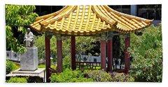 Honolulu Airport Chinese Cultural Garden Bath Towel
