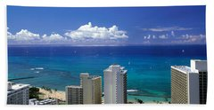 Honolulu Hawaii Bath Towel