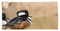 Hooded Merganser Bath Towel