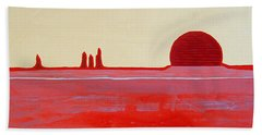 Hoodoo Sunrise Original Painting Hand Towel