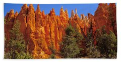 Hoodoos Along The Trail Hand Towel