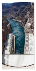 Bath Towel featuring the photograph Hoover Dam Black Canyon by John Schneider