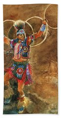 Hopi Hoop Dancer Hand Towel