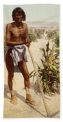 Hopi Man With A Hoe Bath Towel