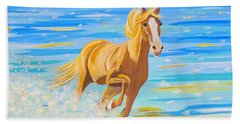 Hand Towel featuring the painting Horse Bright by Phyllis Kaltenbach