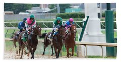 Horse Races At Churchill Downs Hand Towel