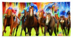 Horse Racing Hand Towel