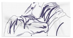 Bath Towel featuring the painting Horse - Together 10 by Go Van Kampen