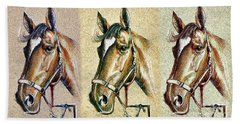 Horses Hand Drawing Hand Towel
